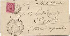 P5314   Chieti, VASTO,  annullo numerale a sbarre 1882