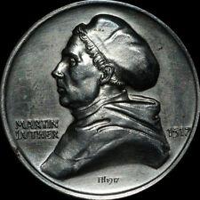 REFORMATION: Eisen-Medaille 1917, Hörnlein. MARTIN LUTHER - REFORMATIONSJUBILÄUM