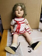 """Antique 22"""" Original Ideal Shirley Temple Composition Doll, Outfit, Hair"""