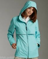 CHARLES RIVER WOMEN'S RAINCOAT W FREE MONOGRAM-RAIN JACKET COAT- FEDEX 2 DAY