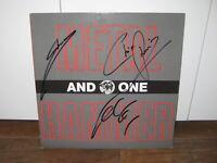 AND ONE - Schallplattensammlung - Flop,Anguish,Time Killer,Signiert-Depeche Mode