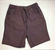 Womens BOBBY BROOKS Board Shorts / 100% Cotton Striped Drawstring Pants 6M