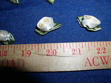 """0.86""""=22mm; Ivory (Eggshell) Roses,w/Leaves,30 Roses in a Bag;  100% Polyester"""
