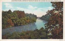 Antique POSTCARD c1929 Gasconade River off Highway 66 Bridge near LEBANON, MO
