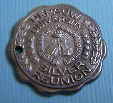 Reunion Indiana sterling charm Vintage Depauw University Silver