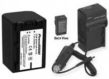 NP-FV70 NPFV70 Battery + Charger for Sony DCR-SR58 HXR-NX70U HXR-NX70P HXR-NX70