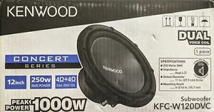 "Kenwood - Road Series 12"" Dual-Voice-Coil 4-Ohm Subwoofer - Black"