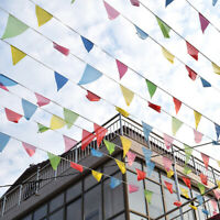 Lot Pennant Flags Multi Coloured Bunting Plastic Banner Party Decoration Outdoor