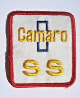 """CAMARO EMBROIDERED SEW ON PATCH SS AUTO CAR CHEVY CHEVROLET  2 1/4"""" x 2 7/8"""""""