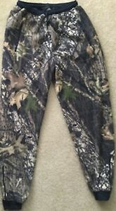 BROWNING Fleece Camouflage Zip Pockets/Ankles Hunting Base Pants Teen XL