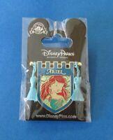 Disney Princess Tapestry Banner w/ Tassels - Little Mermaid Ariel Pin