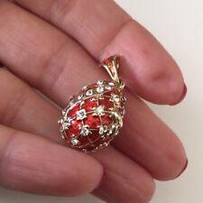 Faberge'style Locket Pendant Cherub Vintage Enamel Angel Médaillon Loquet