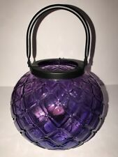 Yankee Candle Large Purple  Lantern Tea Light Candle Holder NIB 8""