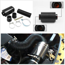 Car Truck Air Filter Box Carbon Fiber Cold Feed Induction Air Intake System Kit