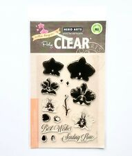 New! Hero Arts Stamp Set Color Layering Orchid