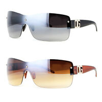 MENS WOMENS RECTANGULAR RIMLESS DESIGNER SUNGLASSES SHADES LARGE EYEWEAR