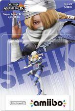 Nintendo Amiibo Sheik Character Figure Super Smash Bros Wii U 3DS Brand New!!!!!