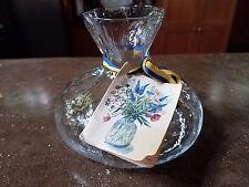 Handmade Swedish SEA Art Glass Vase Kosta Boda Clear Original Booklet