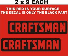 """2- CRAFTSMAN  DECALS-STICKERS- WITH  CUT OUT LETTERS 2 """" X 9"""" EACH BLACK"""