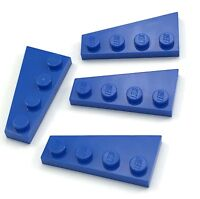 Lego Lot of 4 New Blue Wedges Plates 4 x 2 Right ONLY Pieces Parts