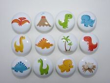 Set of 12 Boys Dinosaur Dresser Drawer Knobs