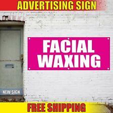 Facial Waxing Banner Advertising Vinyl Sign Flag Salon Spa Tattoo Threading Nail