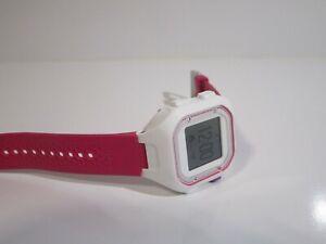 Garmin Forerunner 25 GPS Running Watch, Size S - White/Pink with Purple Button