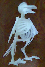 Skeleton Glow in the Dark Crow Bones Life Size Horror Statue Halloween Prop Gag