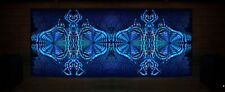 PSYCHEDELIC TAPESTRY - Blacklight backdrop, psy decor uv wall hanging trippy art