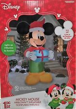 NEW Disney Gemmy MICKEY MOUSE w/ Present 9' Airblown Inflatable CHRISTMAS
