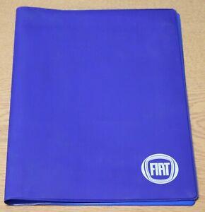 GENUINE FIAT DOCUMENT OWNER MANUAL HANDBOOK WALLET FOLDER CASE BLUE