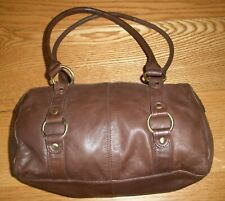F&F BROWN LEATHER HAND BAG