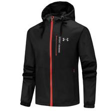 Men's Under Armour UA Overlook Jacket Wind Breaker outdoor sports coat hooded 20