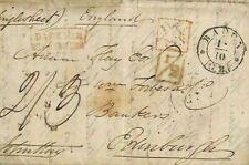 GB ADD HALF 1836 Cover BADEN Germany London Additional ½d Scotland{samwells}AQ20