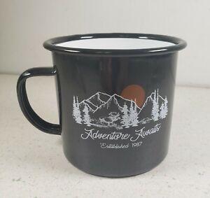 Adventure Awaits Ozark Trail Outdoor Equipment 17oz Tin Enamel 17 oz Coffee Mug