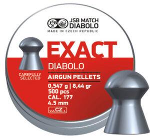 JSB Exact Diabolo Airgun Pellets cal .177 (4.52mm) 500pcs (546237-500)