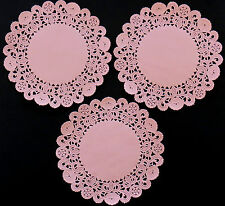 Rosa de Normandía Encaje 12,5 Cm Papel Encaje Tapetito de círculos X 10