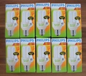 10 x Philips Genie Energiesparlampe 8W = 40Watt / E27