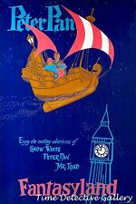 Peter Pan at Fantasyland - Disneyland Poster - Available in 5 Sizes
