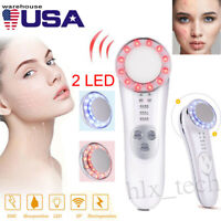 Facial EMS Mesotherapy Electroporation RF LED Photon Skin Care Beauty Machine US