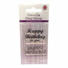 Dovecraft Clear Stamp - Happy Birthday stamps -Great Value £1 (30 designs)