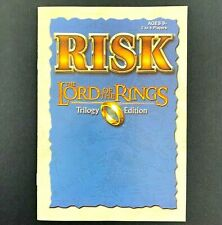 Lord of the Rings RISK Trilogy Edition 2003 Replacement Part Instruction Booklet