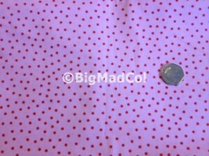 Ikea Cath Kidston Rosali PINK with Red Spot fabric material LIMITED STOCK SALE