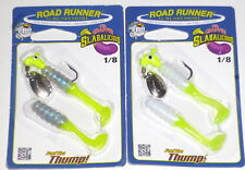Blakemore Road Runner 1/8 Crappie Jigs (Lot of 2-Frig Wt. Ch/Monkey Shine)