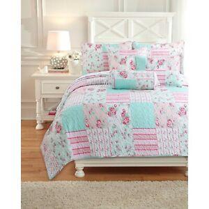 Flower Garden Girl Quilt Set, Bedspread, Coverlet