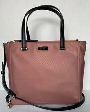 New Kate Spade New York Dawn Medium Satchel Nylon handbag Sparrow