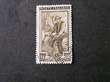 ITALY, SCOTT # 567,200l. VALUE OLIVE BROWN 1950 TRADESMEN  ISSUE USED