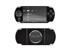 Skinomi Carbon Fiber Film Skin Black Body Screen Protector for Sony PSP 3000