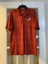 knights apparel mens red alabama roll tide collared golf shirt short sleeve LG
