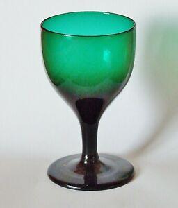 ANTIQUE GEORGIAN BRISTOL GREEN DRINKING GLASS ~ SNAPPED PONTIL